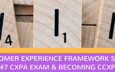 CX Framework series #7: Become a Certified Customer Experience Professional (CCXP)